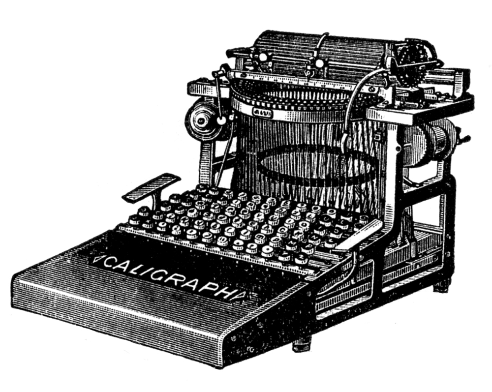 An old-timey typewriter.